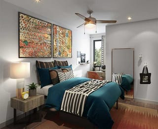 Proximity-At-10th-Greenville-NC-Bedroom-With-Study-Desk-Unilodgers