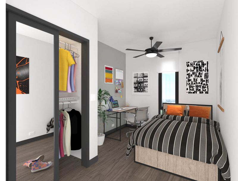The-Dean-Campustown-Champaign-IL-Bedroom-With-Walkin-Closet-Unilodgers