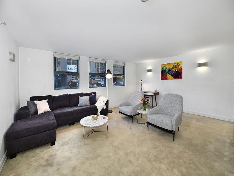 402-408-La-Trobe-Street-Melbourne-Living-Area-Unilodgers
