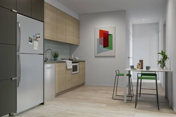 Atira-South-Brisbane-3-Bedroom-Apartment-Kitchen-Unilodgers