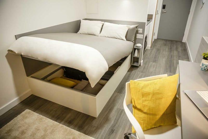 Chapter-Lewisham-London-Bronze-Studio-Bedroom-Unilodgers