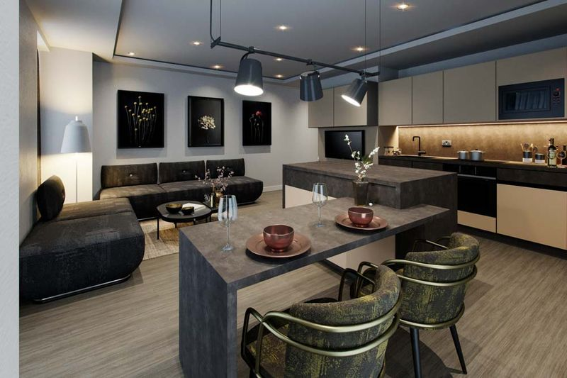 City-Club-Coventry-Kitchen-With-Living-Area-Unilodgers