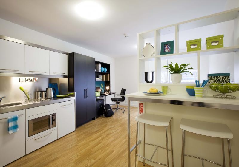 IQ-Bankside-London-Gold-Studio-Kitchen-Unilodgers