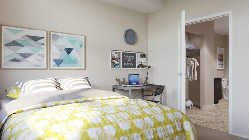 The-Deacon-Cincinnati-OH-Bedroom-With-Study-Desk-Unilodgers