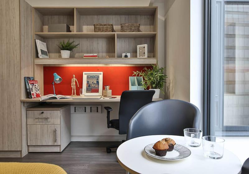 iQ-Bloomsbury-London-Gold-Studio-Study-Desk-Unilodgers