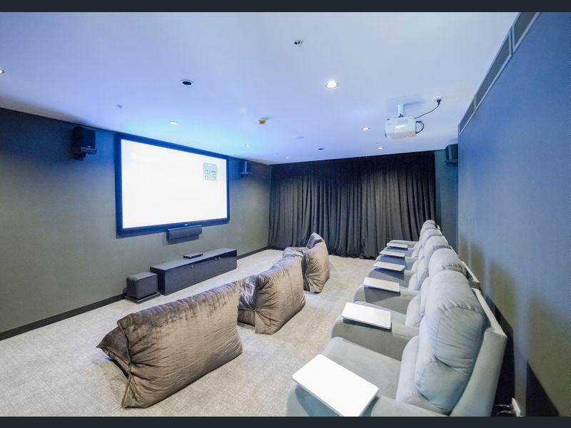 1809-377-Spencer-Street-Melbourne-Student-Accommodation-Melbourne-Cinema-Room-Unilodgers