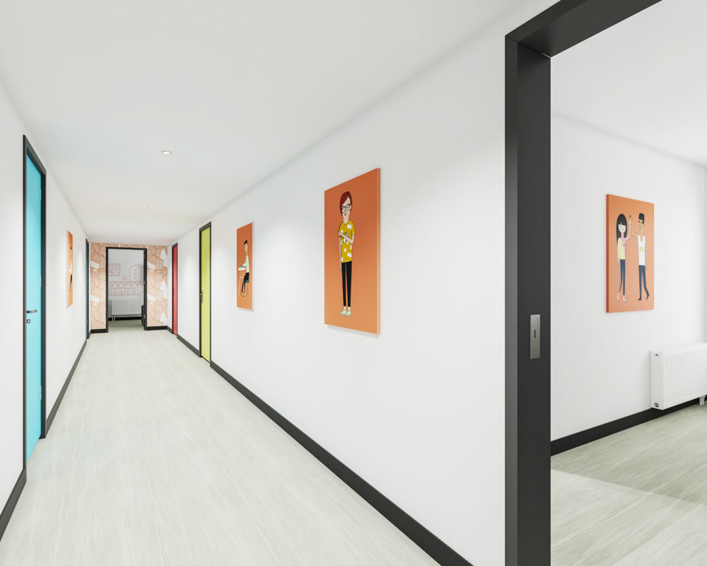Agnes-Jones-House-Liverpool-Corridor-Unilodgers