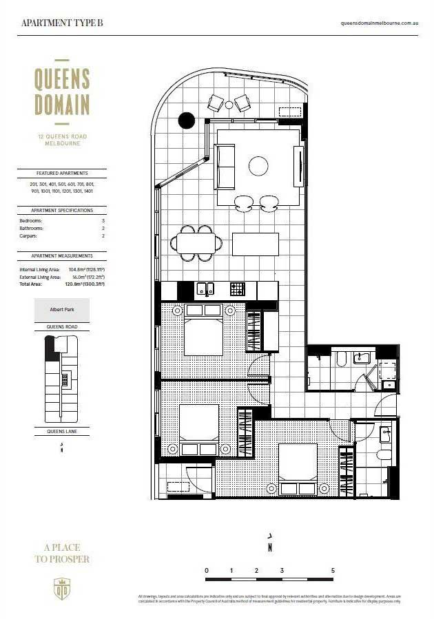 Free Virtual Room Layout Planner: 601/12 Queens Road Melbourne Student Accommodation, VIC