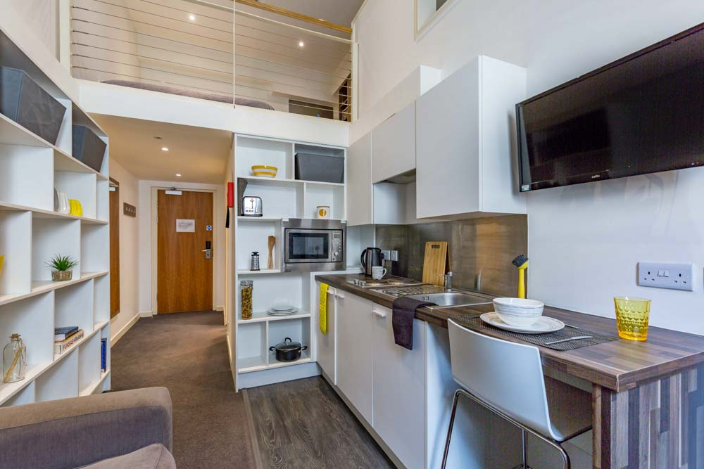 Gallery-Apartments-Glasgow-Kitchenette-Unilodgers