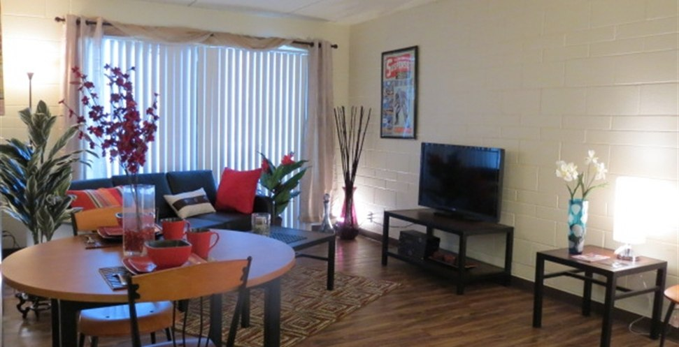 Wildcat-Canyon-Village-Tucson-AZ-Living-Area-With-TV-Unilodgers.
