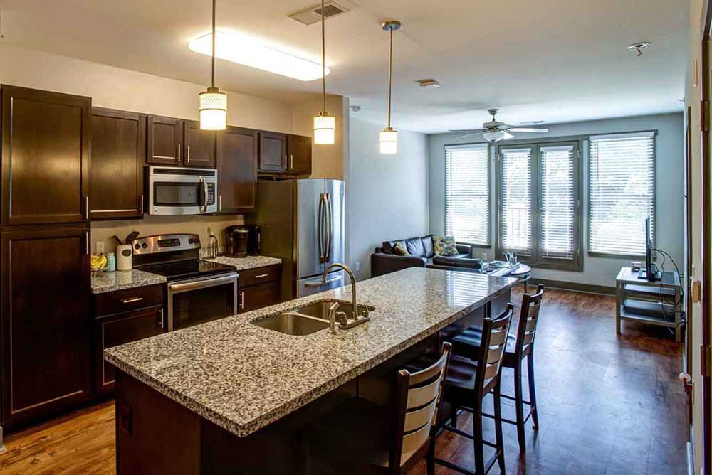 Campus-West-At-Tryon-Raleigh-NC-Kitchen-With-Breakfast-Bar-Unilodgers