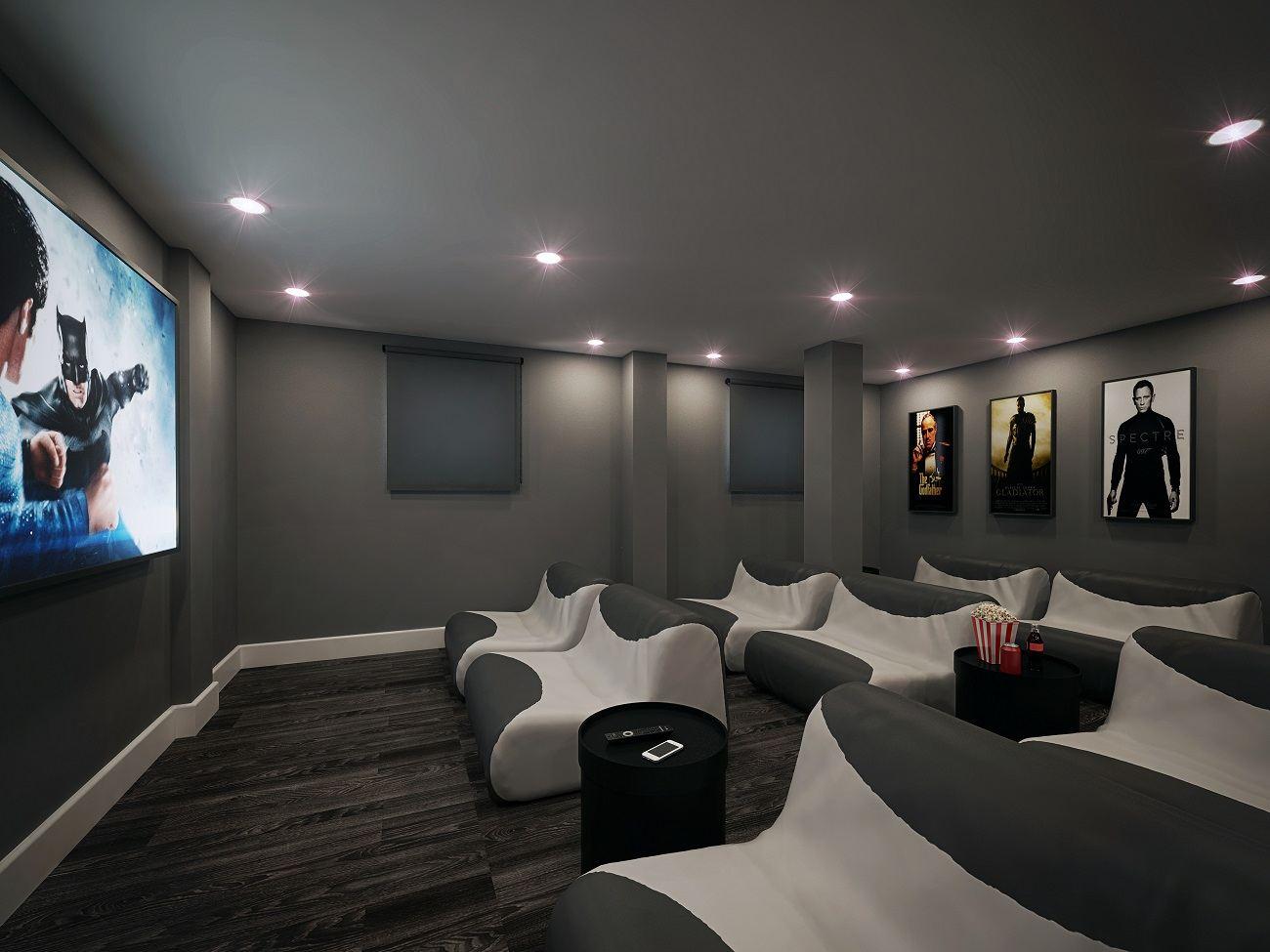 Glendower-House-Cardiff-Cinema-Room-Unilodgers