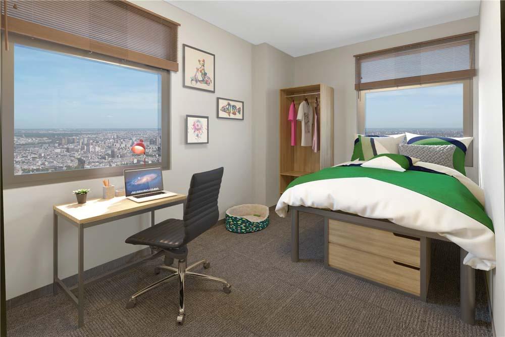 Hale-Mahana-Honolulu-HI-Bedroom-With-Study-Desk-Unilodgers