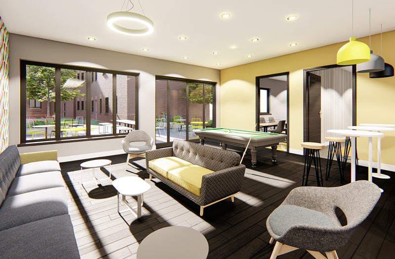 Mansion-Point-Manchester-Common-Room-With-Pool-Table-Unilodgers