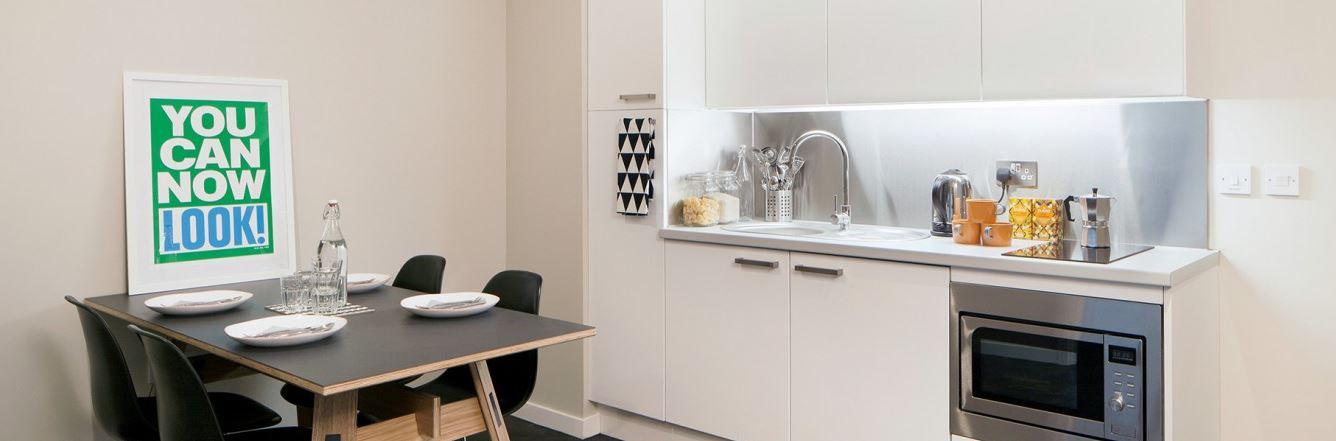 Paul-St-East-London-1-Bed-Apartment-Kitchen-Area-2-Unilodgers