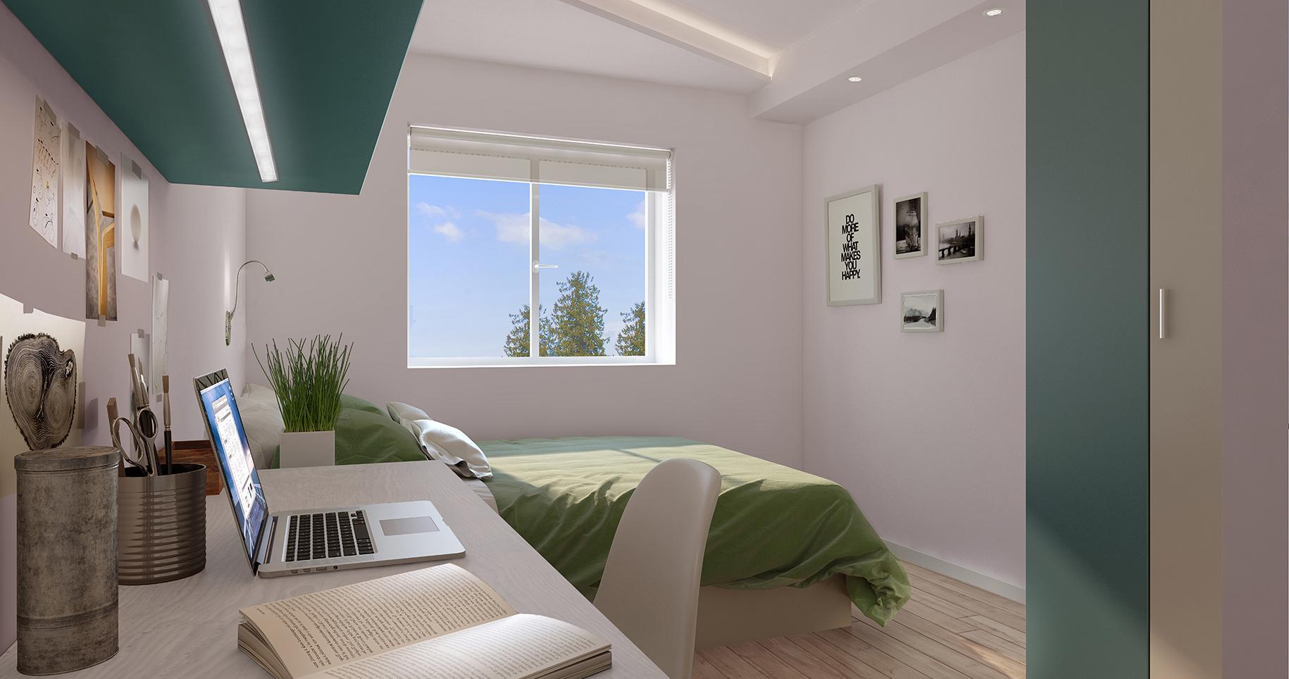 Podium-Egham-Studio-Bedroom 3-Unilodger