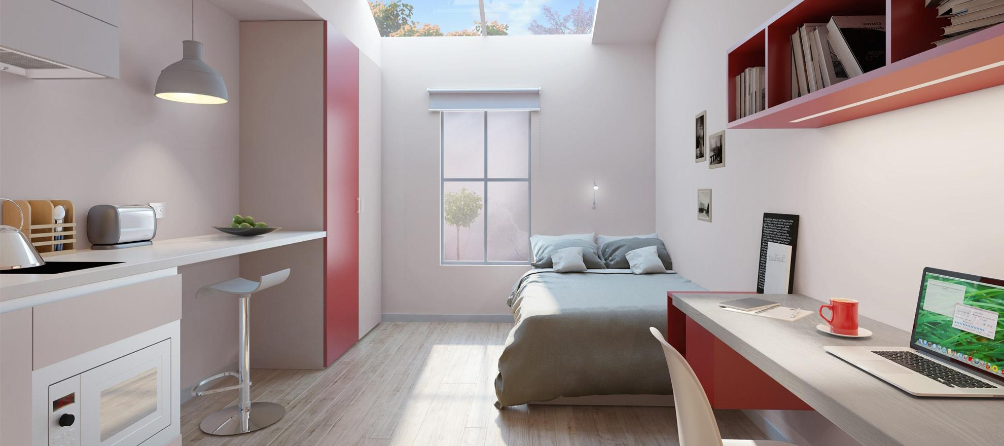 Podium-Egham-Studio-Bedroom 2-Unilodger