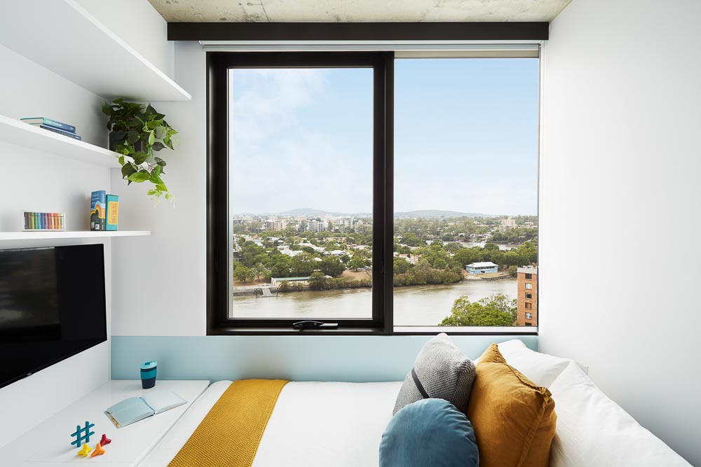 Scape-Toowong-Brisbane-Studio-Apartment-View-Unilodgers