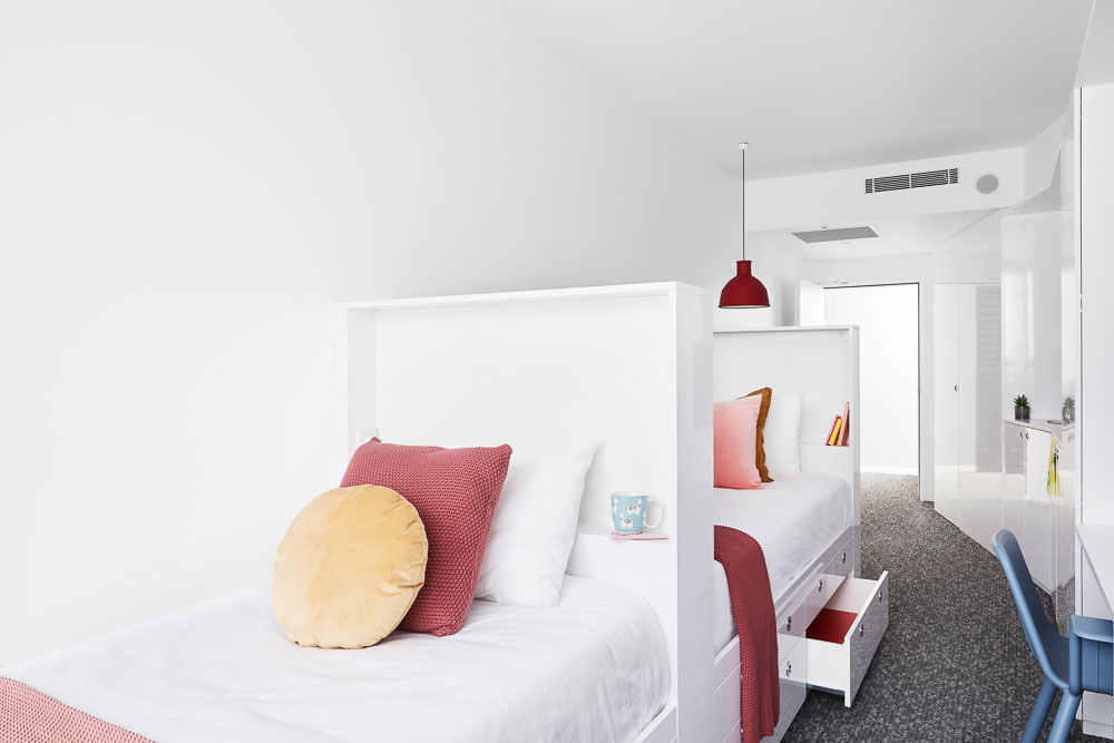 Scape-Toowong-Brisbane-Twin-Studio-Bed-Unilodgers