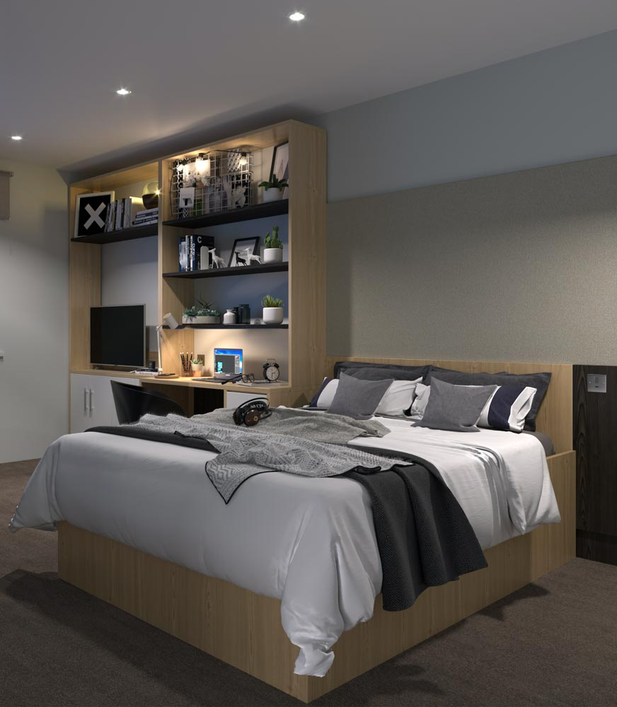 Steel-City-Sheffield-Bedroom-With-Flat-Screen-Tv-Unilodgers