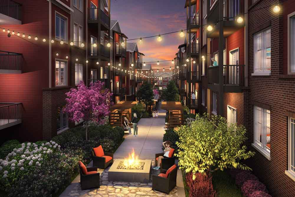 The-Avenue-Fayetteville-AR-Outdoor-Courtyard-Unilodgers