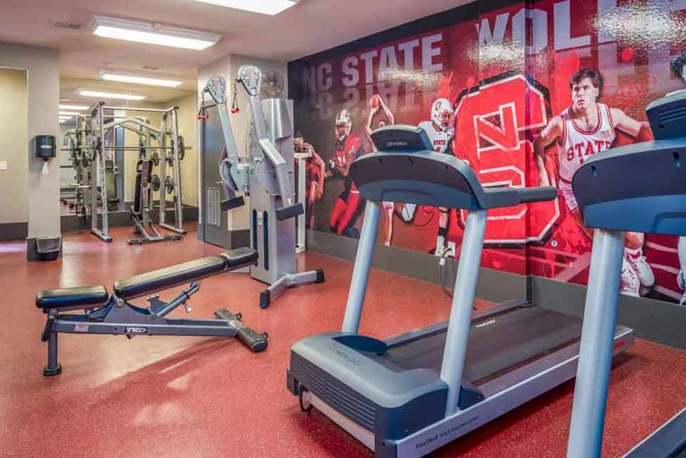 The-College-Inn-Raleigh-NC-Gym-Unilodgers