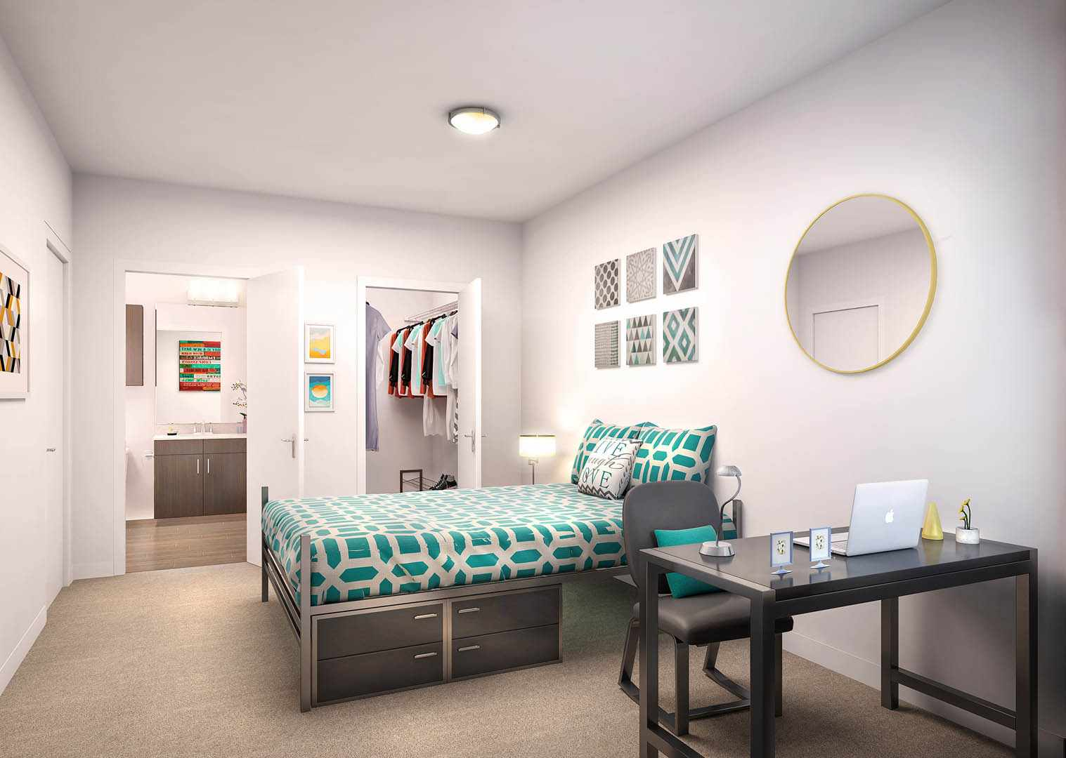 The-Crossings-Student-Living-Sacramento-CA-Bedroom-Unilodgers