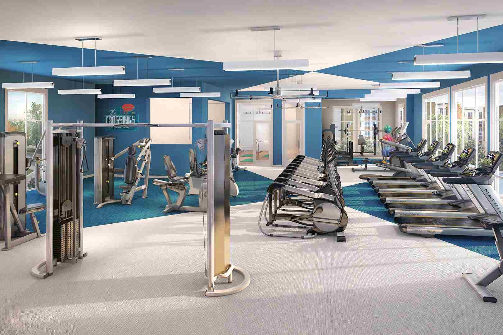 The-Crossings-Student-Living-Sacramento-CA-Fitness-Center-Unilodgers