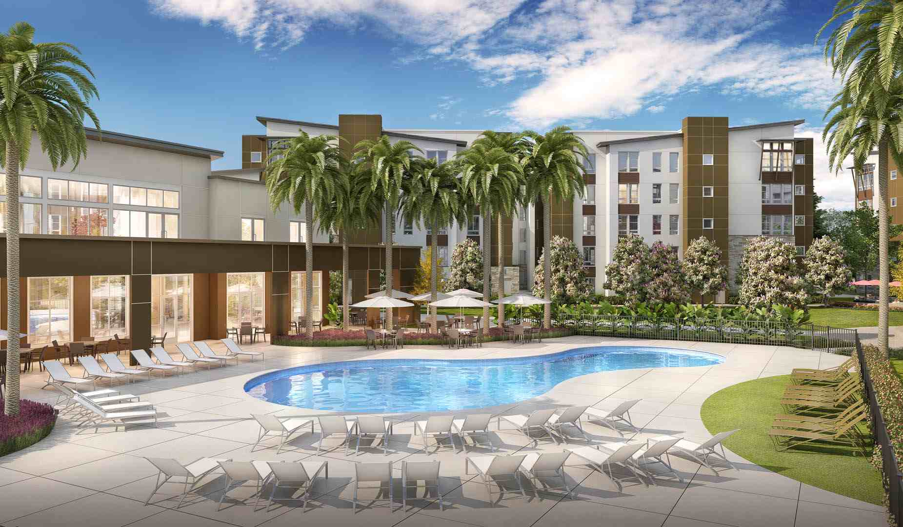 The-Crossings-Student-Living-Sacramento-CA-Poolside-Unilodgers