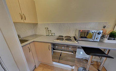 The-Old-Fire-Station-Aberdeen-Basic-Studio-Kitchen-Unilodgers