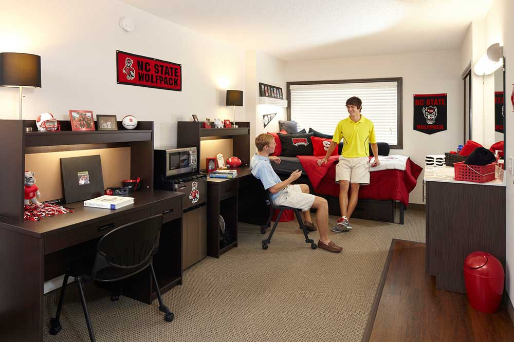 University-Towers-Raleigh-NC-Bedroom-Unilodgers