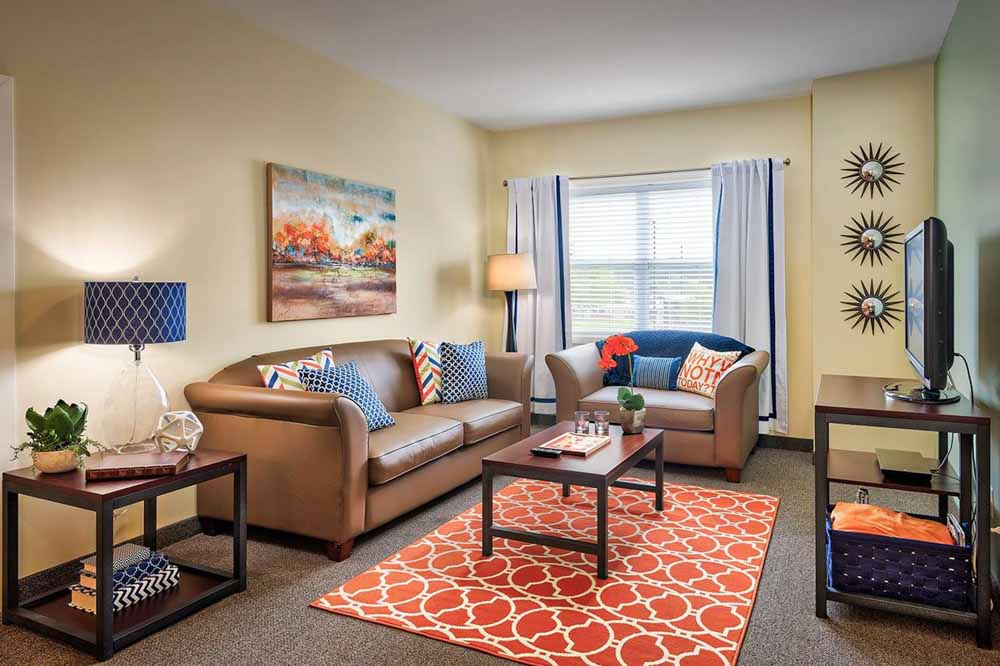 University-Village-Apartments-On-Colvin-Syracuse-NY-Living-Area-With-TV-Unilodgers